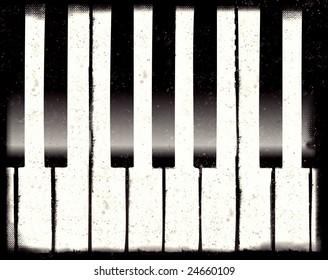 Computer designed grunge piano background