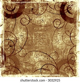 Computer designed highly detailed grunge textured abstract background