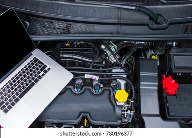 Computer diagnostics of the car.