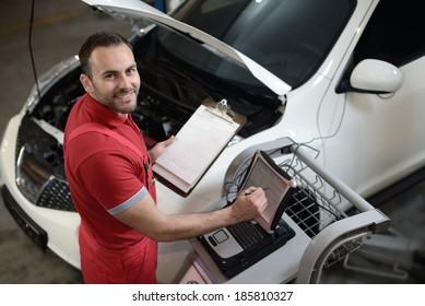 Computer diagnostics of cars