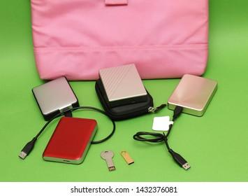 Computer digital memory hard drives and small flash drives