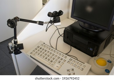 Computer for disabled users. It was equiped with alternate input devices like handsfree chin mouse, Adaptive keyboard and trackball