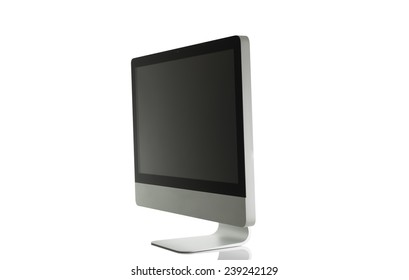 Computer display . Isolated on white background