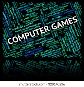 Computer Games Indicating Play Time And Pc