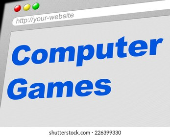 Computer Games Showing Www Web And Gamer