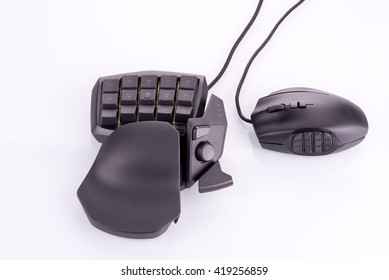 Computer gaming keypad and mouse