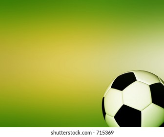 Computer generated background of a soccer ball.