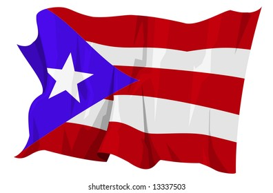 Computer generated illustration of the flag of Puerto Rico
