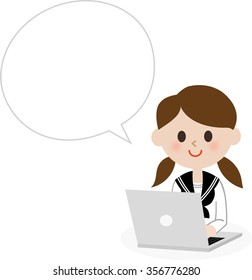 computer girl student