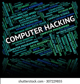 Computer Hacking Meaning Processor Hacked And Internet