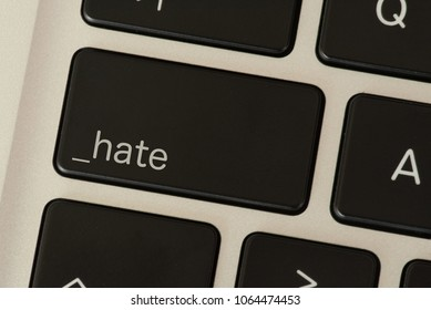 A computer and a hate button