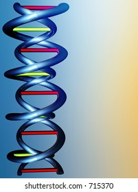 Computer illustration of a strand of DNA with plenty of space for your writing.