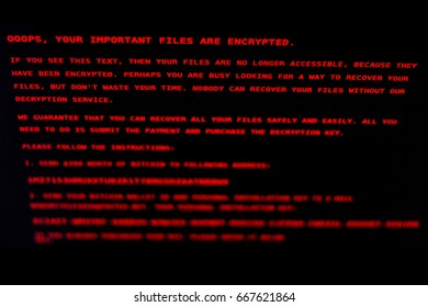 The computer is infected with the virus Petya.A