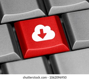 Computer key - download from the cloud