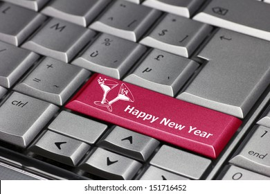 Computer key - Happy New Year
