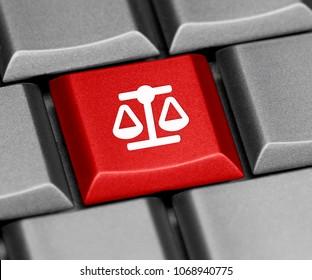 Computer key - justice