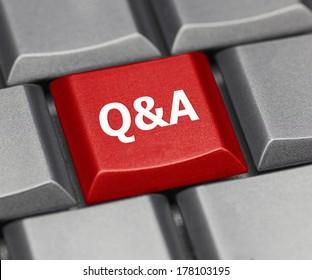 Computer key - Q & A