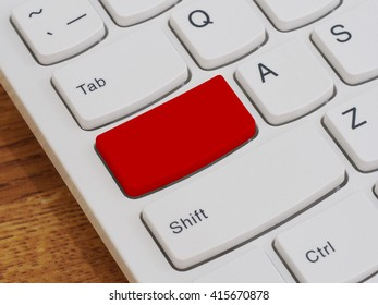 Computer keyboard button with blank text