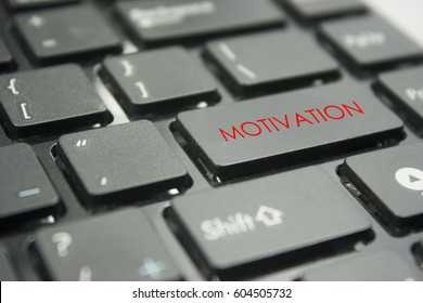 computer keyboard button with word motivation