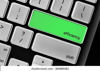 The computer keyboard button written word efficiency .