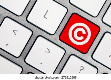 Computer Keyboard - Copyright Symbol