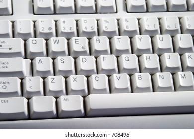 Computer Keyboard from a desktop computer.