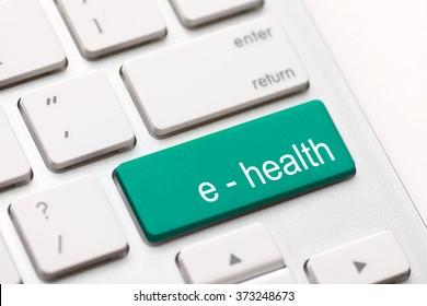 Computer keyboard with e health key.