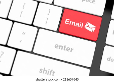 Computer keyboard with e-mail key