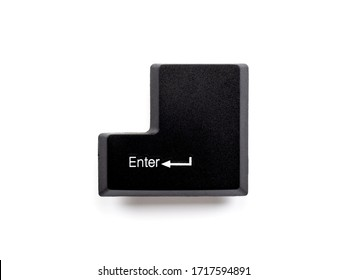 Computer Keyboard enter key isolated on white background with clipping path.