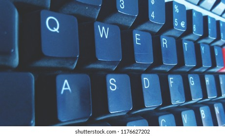 Computer Keyboard qwerty keys