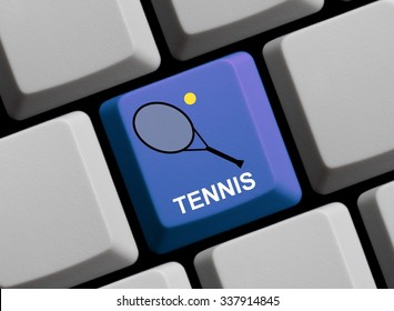 Computer Keyboard with symbol showing Tennis