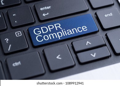 Computer Keyboard with words GDPR Compliance (General Data Protection Regulation)