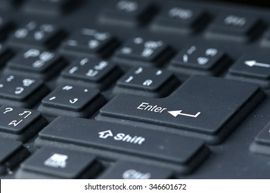 "Computer Keyboards   Focus on the word ""Enter""."