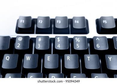 Computer keys closeup