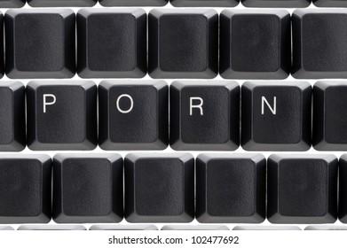 computer keys concept of internet online or cyber porn