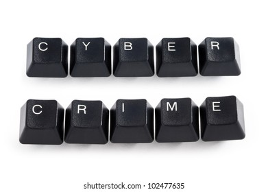 computer keys spelling cyber crime