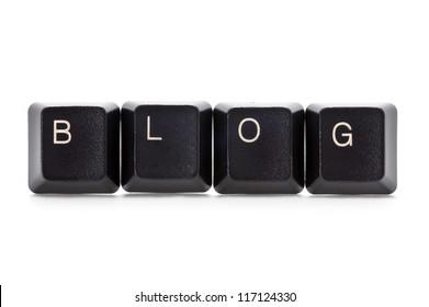 computer keys spelling the word blog
