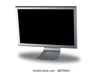 computer lcd or tft monitor with flat screen