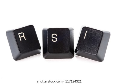 computer letters spelling rsi represents repetitive strain injury