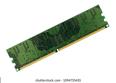 computer memory chip (DDR) on isolated white background