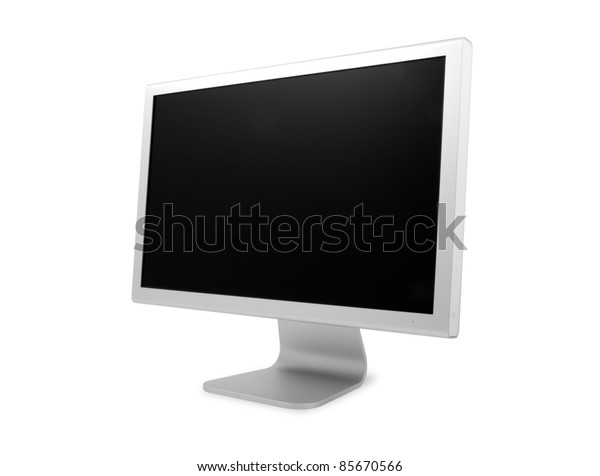 Computer monitor with clipping path.