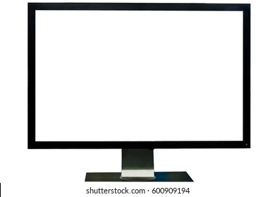 Computer monitor isolated on over white background