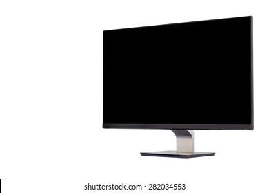 Computer monitor isolated on white background. clipping path in picture.