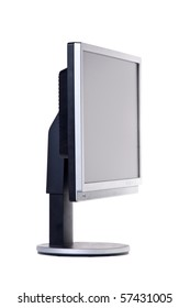 Computer monitor. Isolated on white.
