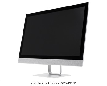 Computer monitor isolated on a white background.