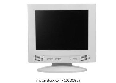 Computer Monitor on White Background