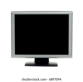 Computer monitor on white background with clipping path for screen area