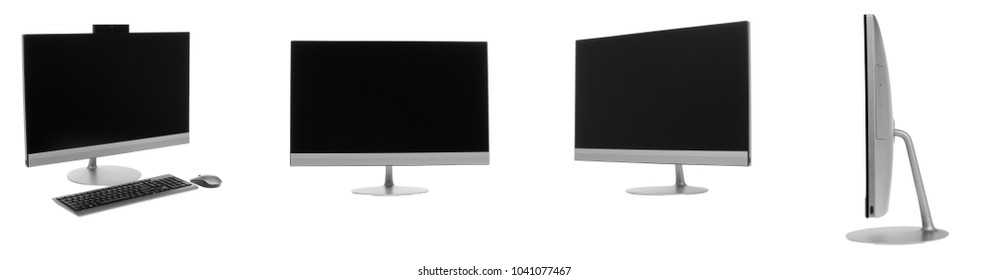 Computer monitor or TV isolated on white background.