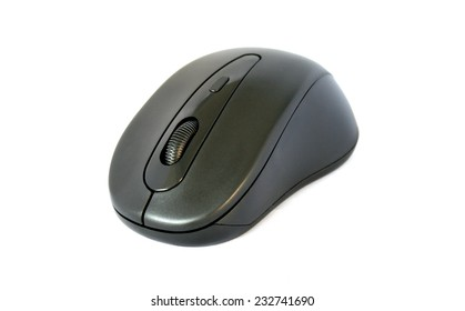 computer mouse isolated on white horizontal side view