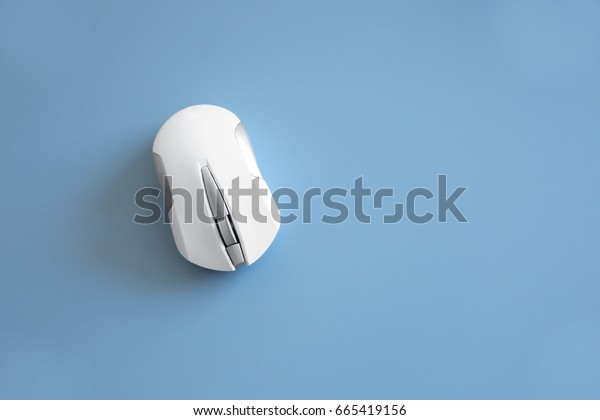Computer mouse on grey background